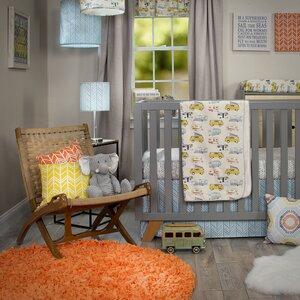 Happy Camper 4 Piece Crib Bedding Set