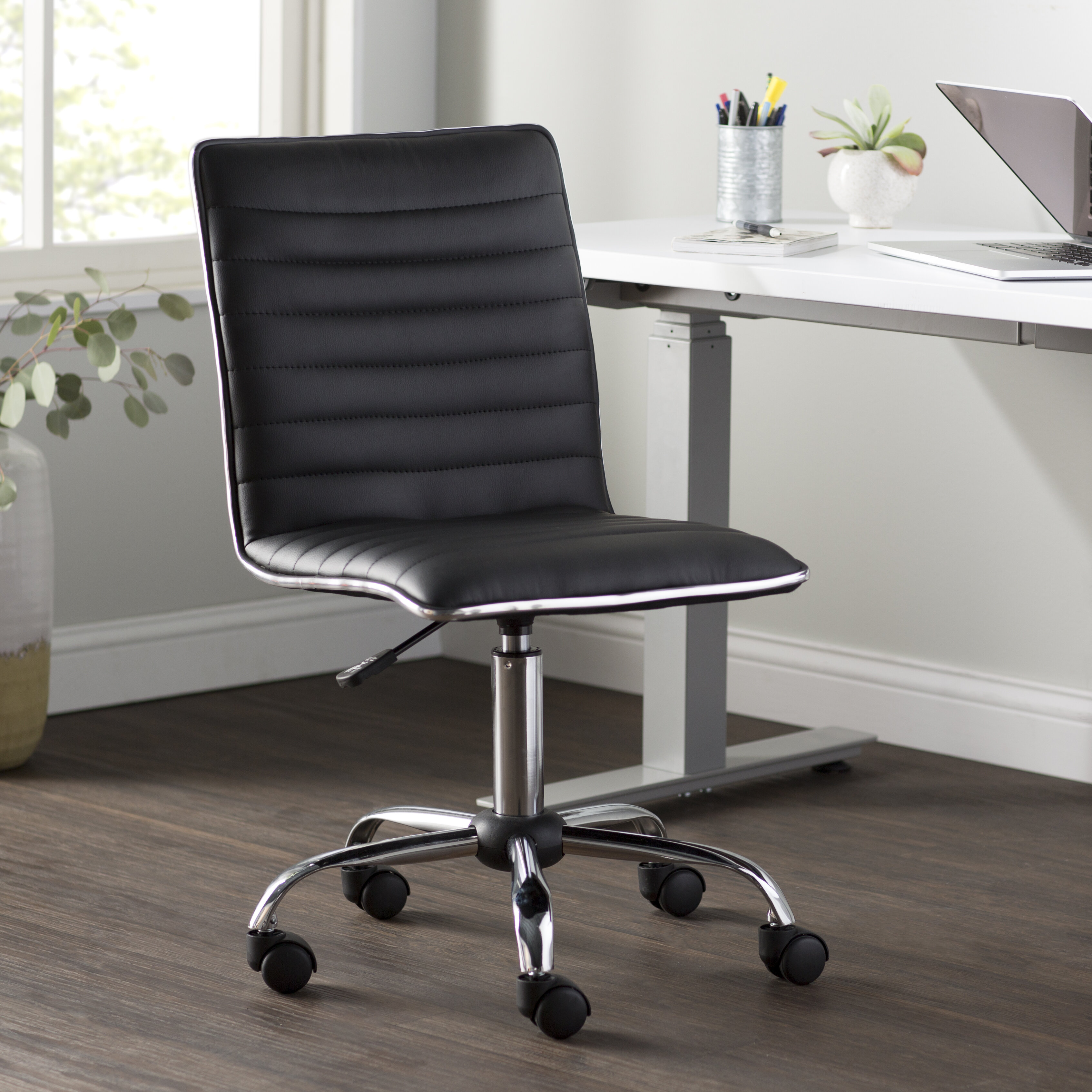 Delicieux Wayfair Basics™ Wayfair Basics Adjustable Mid Back Desk Chair U0026 Reviews |  Wayfair