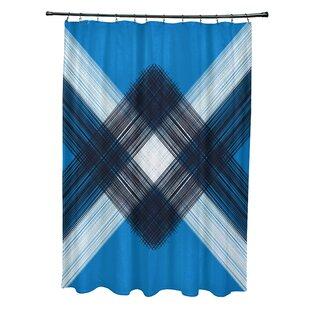 Hancock String Art Geometric Print Single Shower Curtain