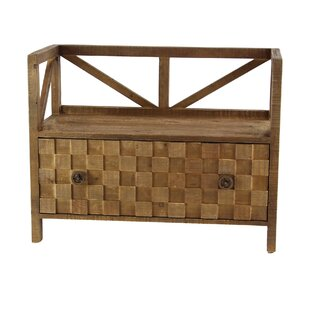 Osterley Wood Storage Bench by Gracie Oaks