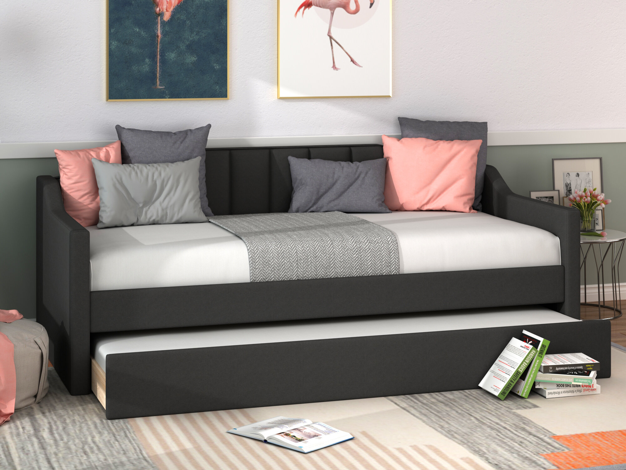 Everly Quinn Agata Twin Solid Wood Daybed With Trundle Wayfair