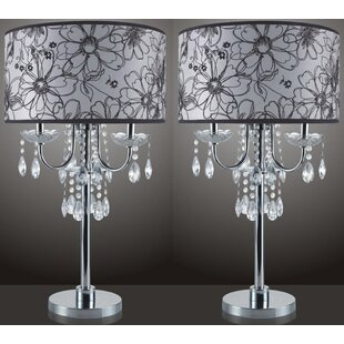Beachborough Floral Design 29.5 Table Lamp (Set of 2)