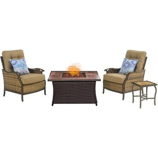 Dimaggio Square 4 Piece Sofa Set with Cushions