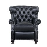 Keleigh Genuine Leather Manual Recliner by Darby Home Co