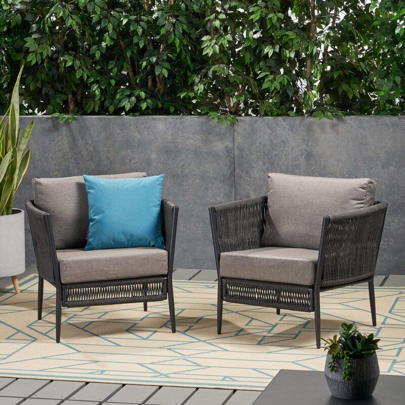 Kyree Patio Chair With Cushions & Reviews   Joss & Main