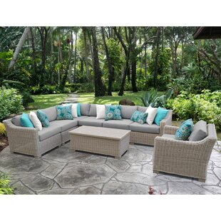 Coast 8 Piece Sectional Seating Group With Cushions by TK Classics
