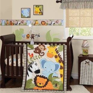 Jungle Buds 3 Piece Crib Bedding Set