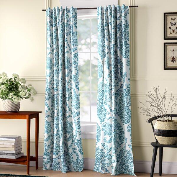 Bakewell Damask Blackout Thermal Rod Pocket Single Curtain Panel Reviews Birch Lane