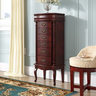 Astoria Grand Cottrell Jewelry Armoire with Mirror
