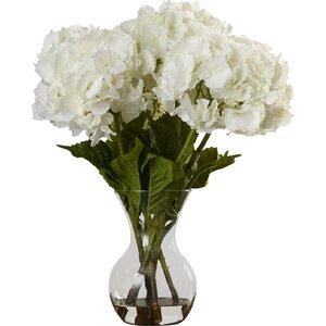 Large Silk Hydrangeas in Vase
