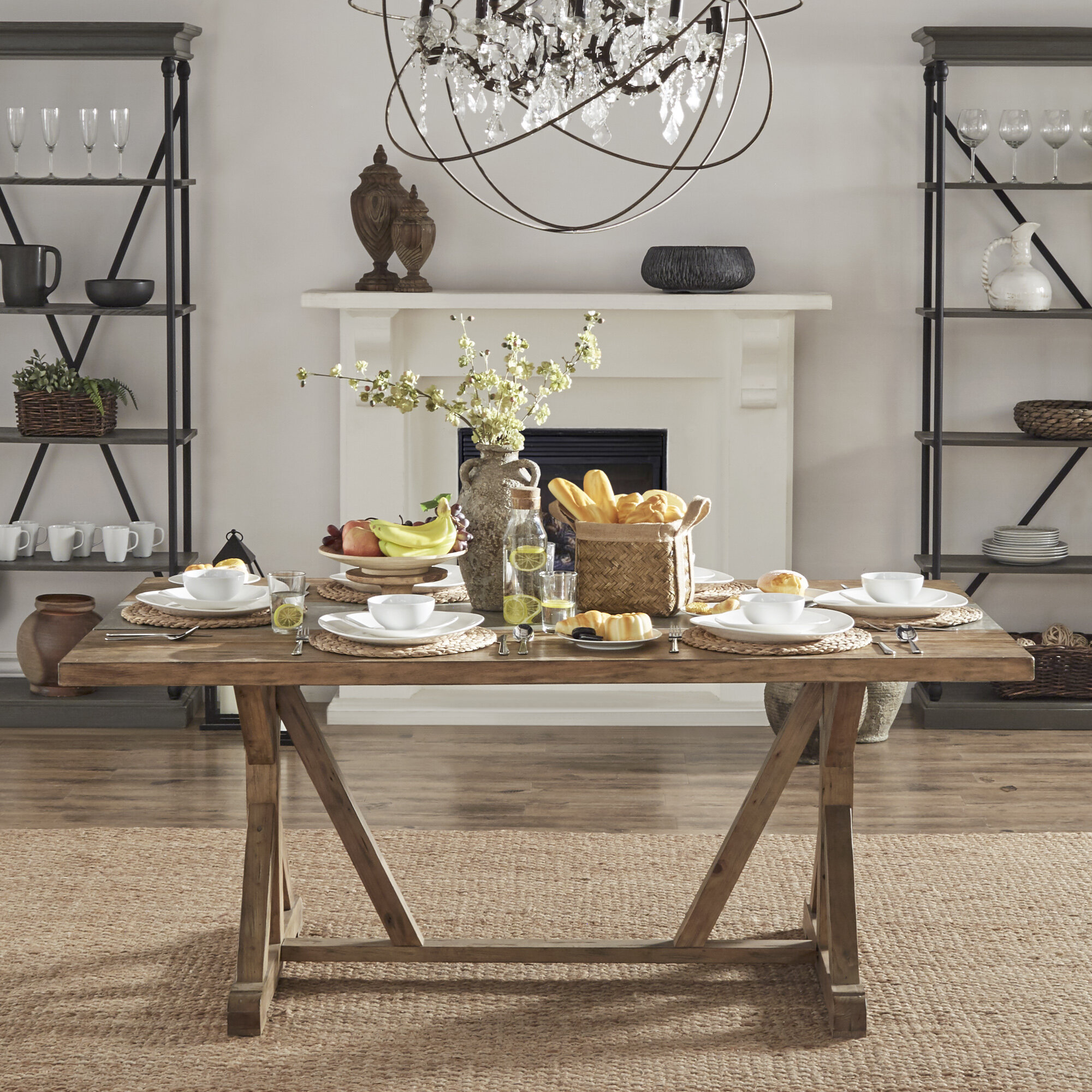Millwood Pines Mcmillin Solid Wood Dining Table Reviews Wayfair