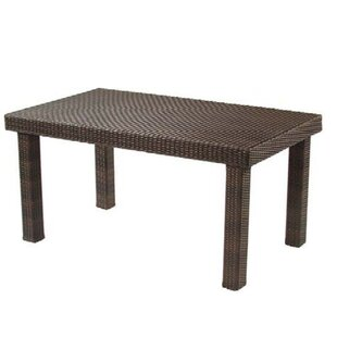 All-Weather Rectangular Wicker Dining Table by Woodard Best Choices