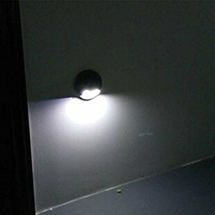 Symple Stuff Kirts Solar 2-Light LED Outdoor Flush Mount with Motion Sensor (Set of 2)