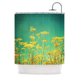 Yellow Flowers Single Shower Curtain