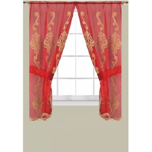 Red Dining Room Curtains | Wayfair