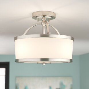 Camacho 2-Light Semi Flush Mount by Latitude Run