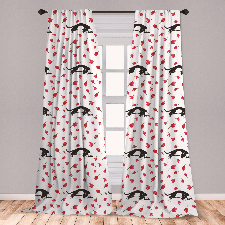 East Urban Home Kitty Sleeping Room Darkening Rod Pocket Curtain Panels Wayfair