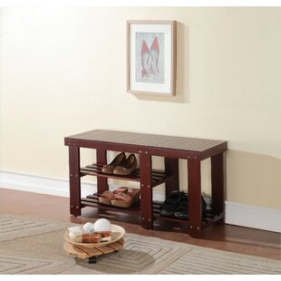 Read Reviews Kinlaw Wood Storage Bench ByWinston Porter