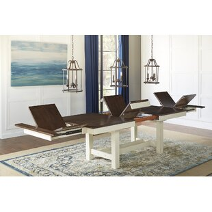 Aguero Extendable Solid Wood Dining Table (Set of 2)
