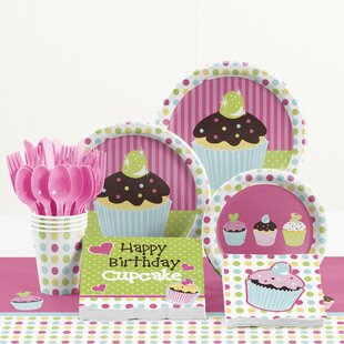 81 Piece Sweet Treats Birthday Paper/Plastic Tableware Set