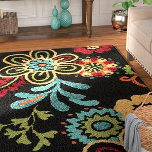 Chasse Black Indoor/Outdoor Area Rug