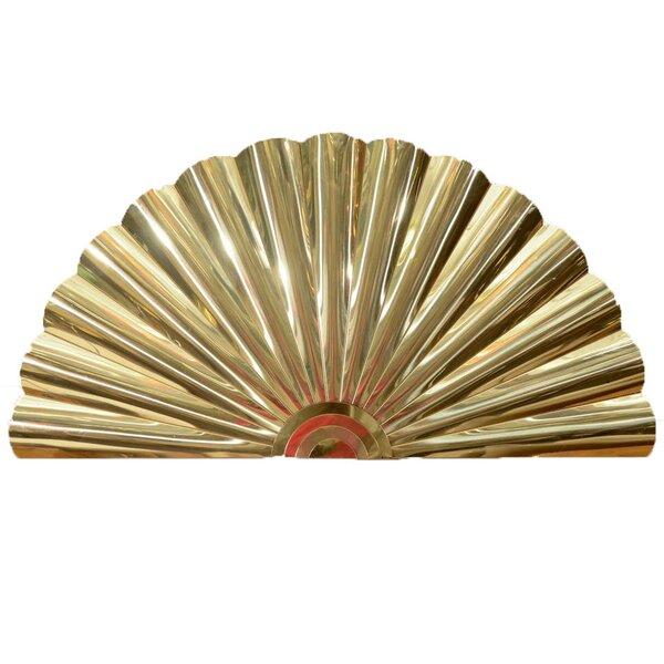 Fan Wall Décor - Gold Oriental Wall Fan - Chic Asian Decor