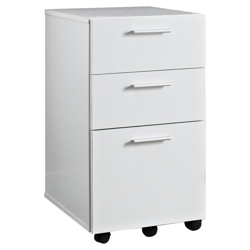 Jayda 3 Drawer Mobile Filing Cabinet
