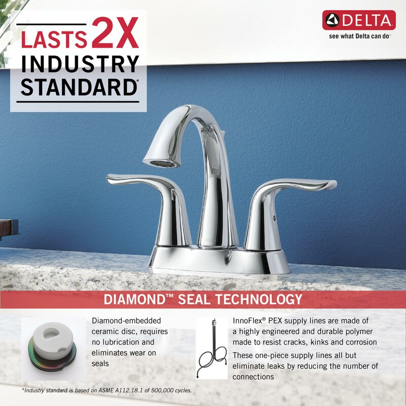 Lahara Centerset Bathroom Faucet With Drain Assembly And Diamond Seal  Technology