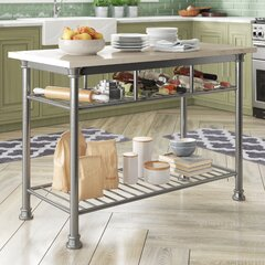 Silver Kitchen Islands Carts You Ll Love In 2021 Wayfair