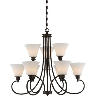 Charlton Home Eich 9-Light LED Shaded Chandelier