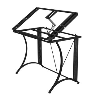 Ebern Designs Emmy Glass Drafting Table
