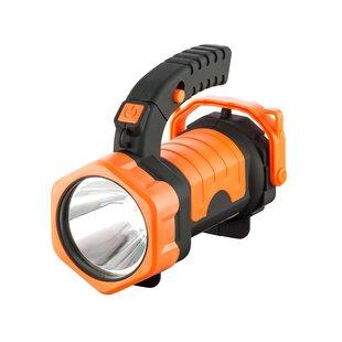 Price Sale Piotrowski Orange Battery Powered LED Outdoor Flashlight