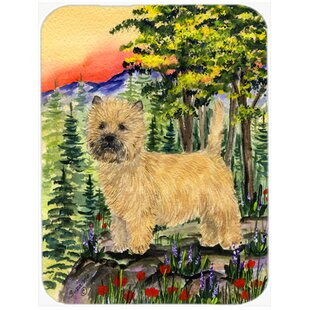 Cairn Terrier Glass Cutting Board By East Urban Home