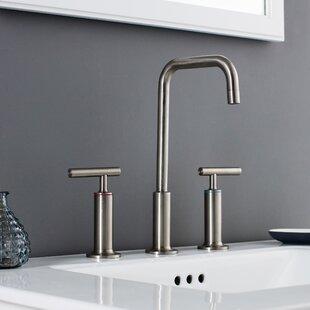 Maykke Prelude 3 Piece Widespread Wrist Blade Handle Bathroom Faucet Set