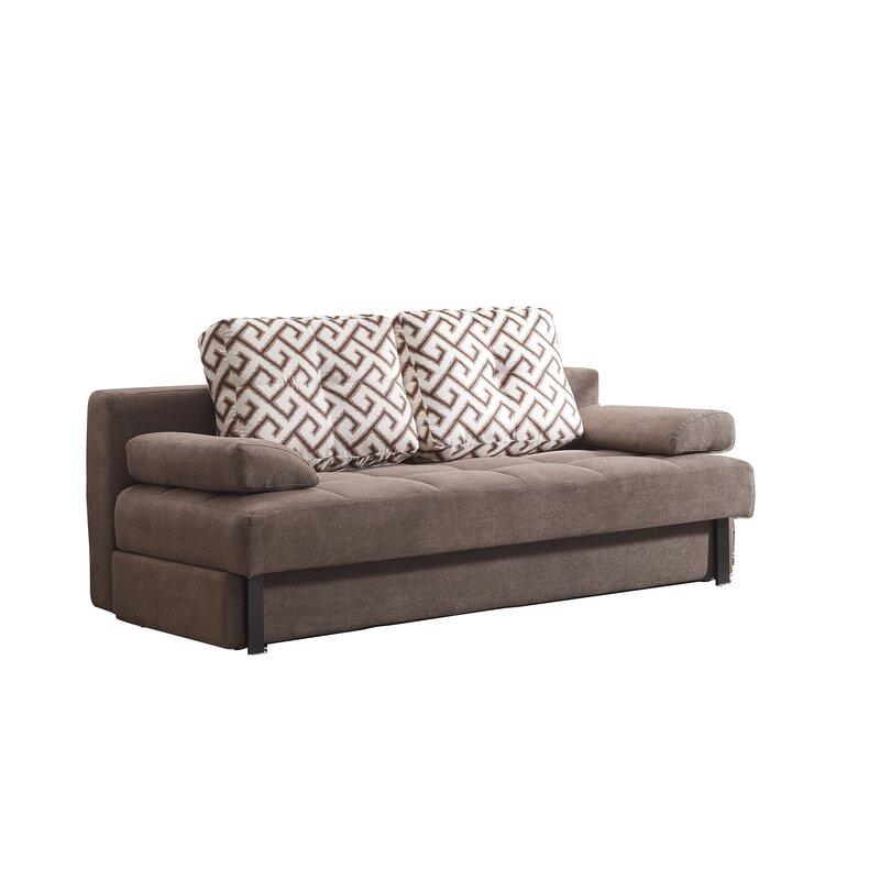 Convertible Microsuede Sofa Bed
