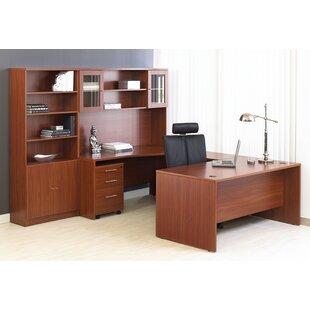 Buragate 8 Piece U-Shape Desk Office Suite by Latitude Run