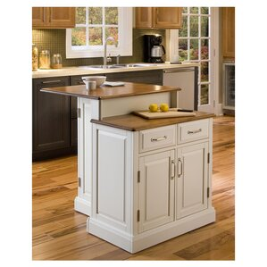 Susana Kitchen Island with Wooden Top by Darby Home Co