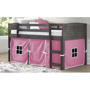 Purchase Brightling Twin Low Loft Bed with Tent Kit By Zoomie Kids