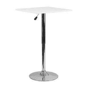 Orren Ellis Noemi Square Adjustable Pub Table