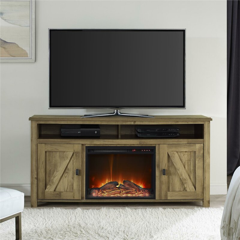 Mistana Whittier Tv Stand For Tvs Up To 60 With Fireplace Wayfair