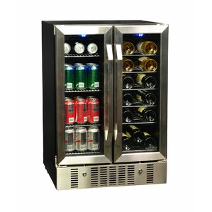 18 Bottle Dual Zone Convertible Wine Cooler by NewAir