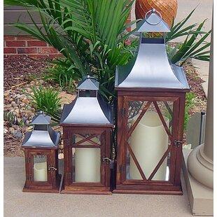 3 Piece Wood Lantern Set by Charlton Home