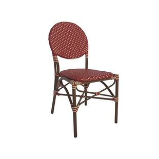 Wrought Studio Birge Cafe Stacking Patio Dining Chair with Cushion