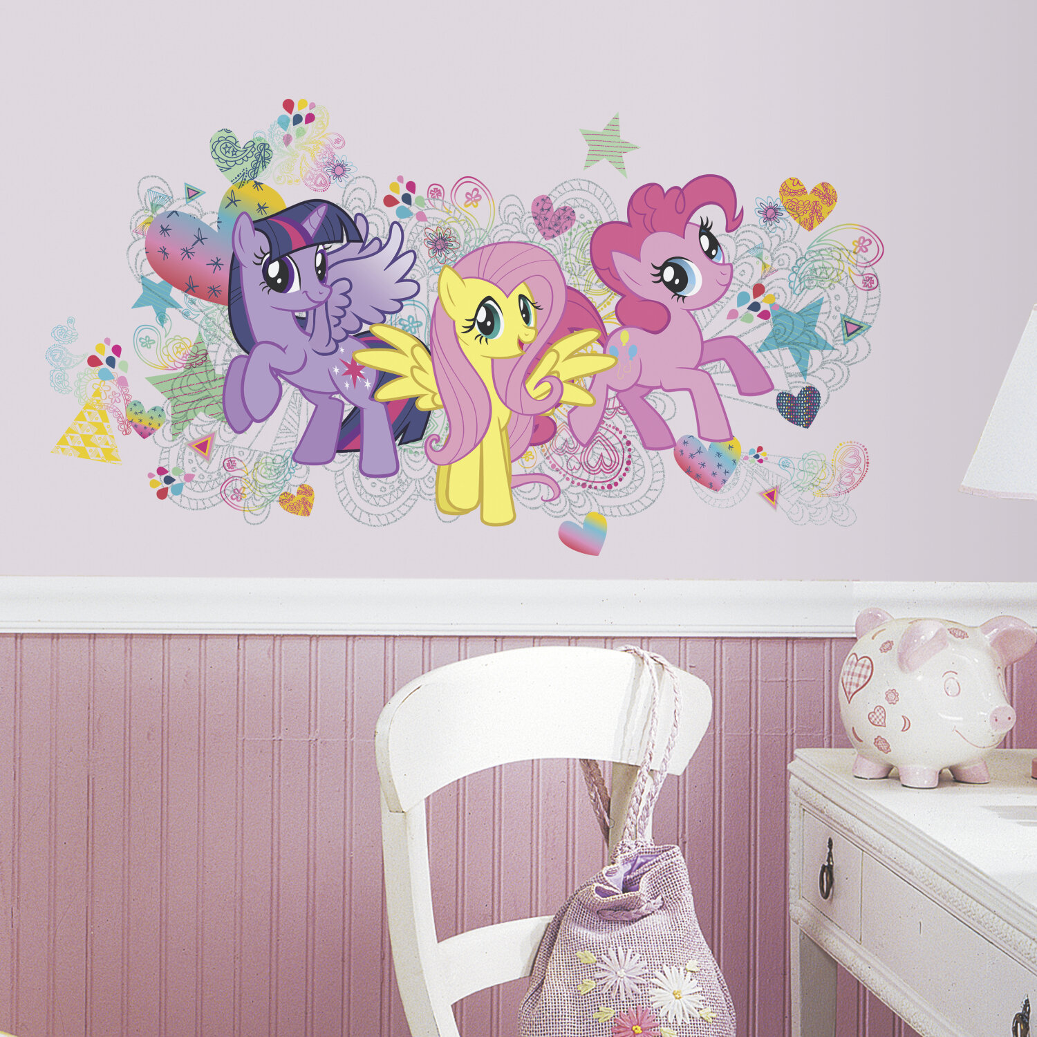 Room Mates Por Characters 6 Piece My Little Pony Wall Decal Reviews Wayfair