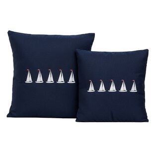 Sailboats Outdoor Throw Pillow