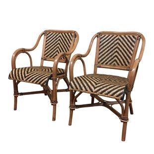 ElanaMar Designs Safari Arm Chair (Set of 2)
