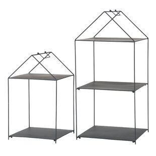 Agnethe Bookcase (Set Of 2) By 17 Stories