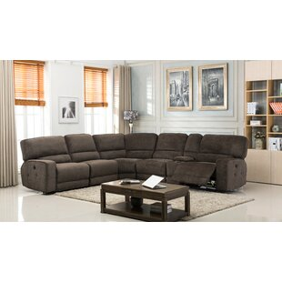 Red Barrel Studio Tumlin Fabric Upholstered Power Reclining Sectional