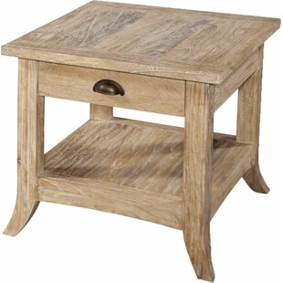 Fairwind End Table with Storage in , Rustic Bronze