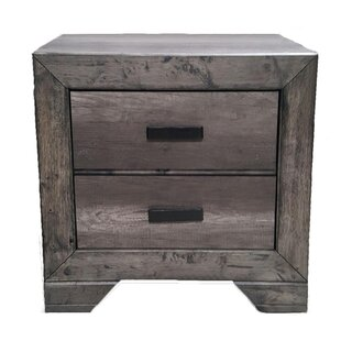 Woosley 2 Drawer Nightstand by Union Rustic